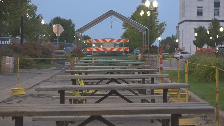 Muskegon to open outdoor social districts to aid local restaurants and bars
