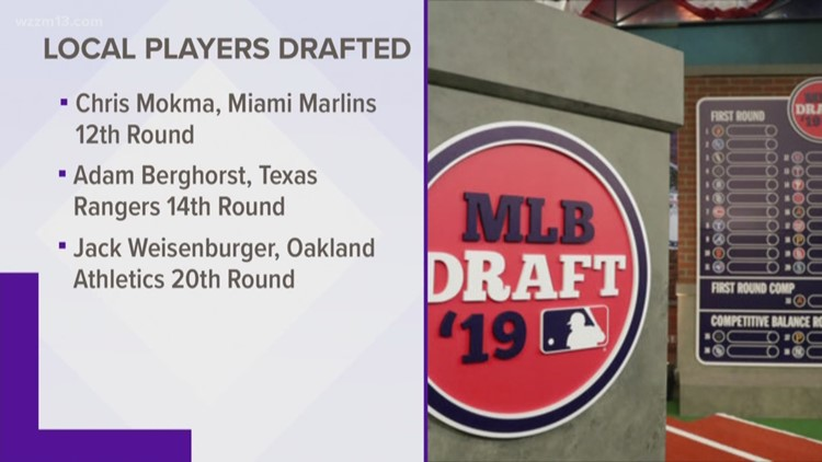 Local players selected for MLB draft