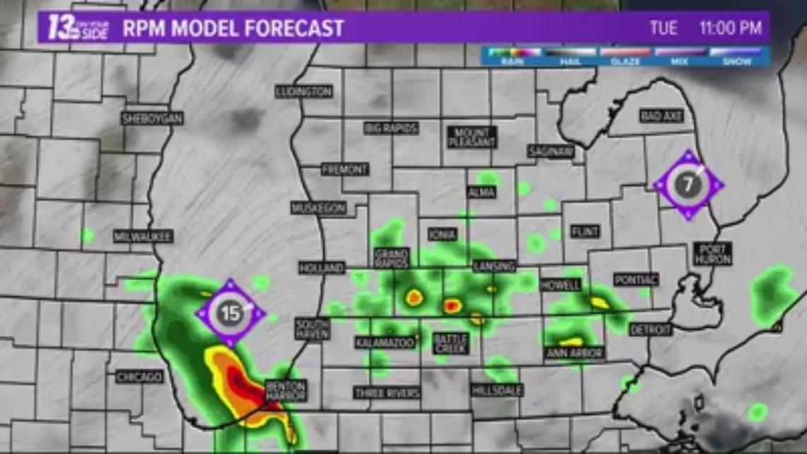 wzzm13com 13 On Target Forecast Cooler trend continues