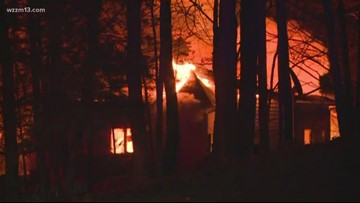 Large house fire in Barry County