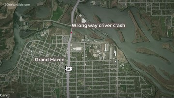 Wrong-way driver in Grand Haven leads police on car chase