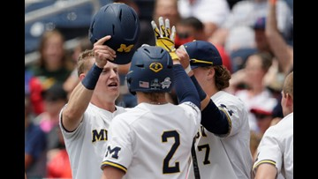 Michigan makes CWS finals with 15-3 win over Texas Tech