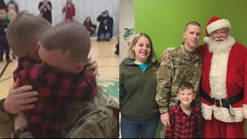 One Good Thing: Solider surprises his son at school for Christmas