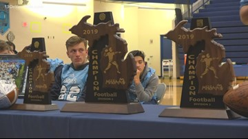 Mona Shores community celebrates first football state title