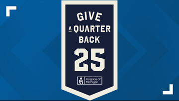 Hospice of Michigan's Give a Quarter Back campaign is back
