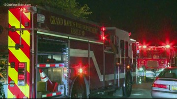 Grand Rapids home severely damaged in overnight fire