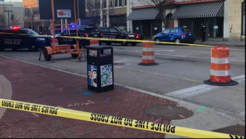 1 shot south of downtown Grand Rapids