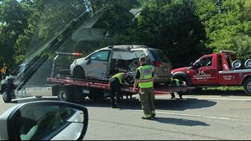 Dump truck and van collide in Ada