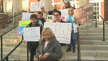 Parents protest two-tiered education at Grand Rapids Public Schools