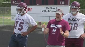 Grandville football coach named Detroit Lions high school coach of the week