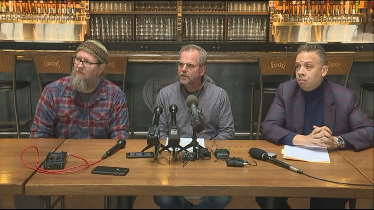 The owners of Founders addressed the media Thursday in Detroit.