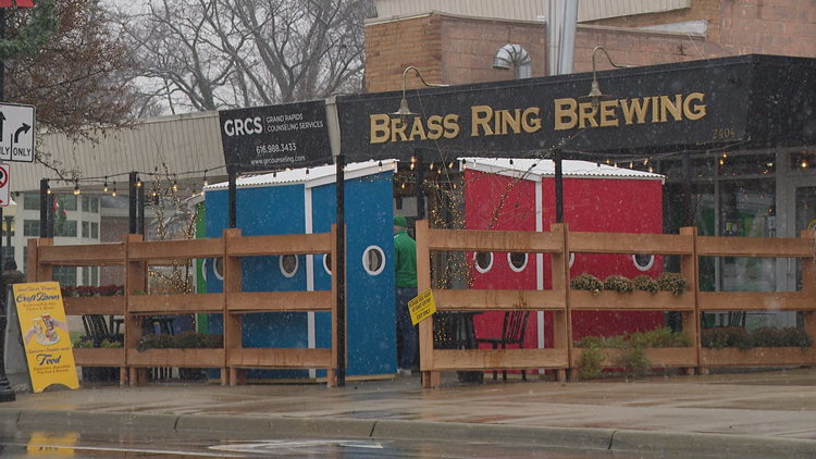 'Beer Shanties' invention helps Michigan brewery bring inside, outside
