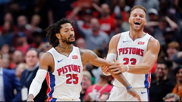 Rose caps big 4th with winning jumper, Pistons edge Pelicans
