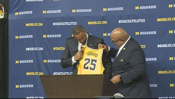 Juwan Howard introduced as new Michigan head coach