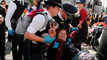 570 arrested in 4 days at London climate protests