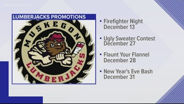 Have some festive fun with the Muskegon Lumberjacks this holiday season