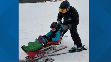 Adaptive downhill ski clinic allows disabled athletes to hit the slopes