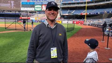 3 generations of Harbaughs make first visit to Yankee Stadium