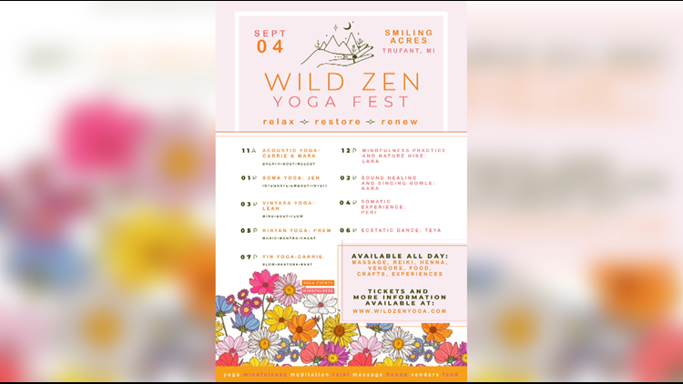 Mindful Weekend: Wild Zen Yoga Fest comes to Montcalm County