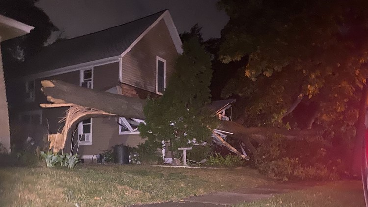 Storms sweep through West Michigan, leaving behind damage, power outages