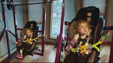 Students develop electric swing for girl with special needs