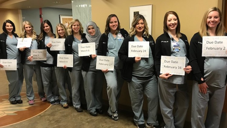 11 nurses are pregnant at a Troy hospital labor and delivery unit