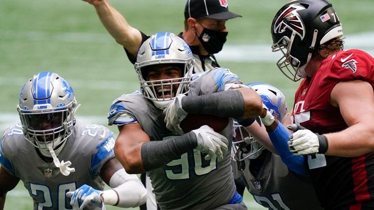 Lions stun Falcons 23-22 after letting Atlanta score late TD