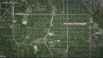 Homes hit by gunfire in Kalamazoo