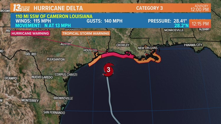 Hurricane Delta Expected To Make Landfall Later Today
