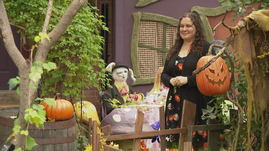 Woman turns Comstock Park house into haunted fairy tale display for Halloween