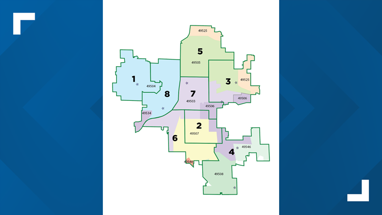 Example of possible 8-ward map