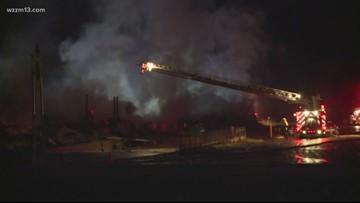 Massive fire destroys potato barn near Greenville