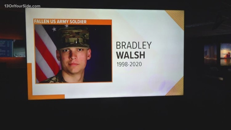 Flags lowered to honor fallen Michigan soldier