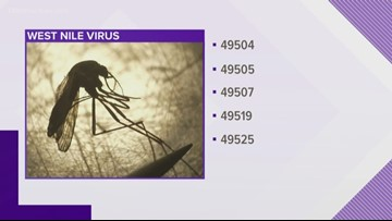 West Nile virus found in West Michigan mosquitoes