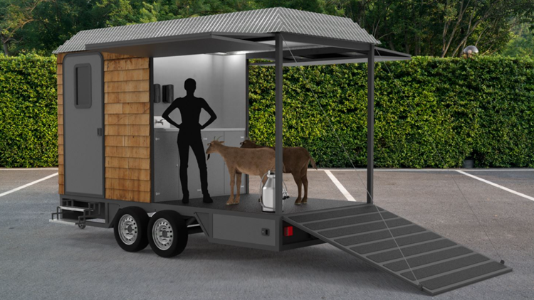Michigan goat farmer invents first 'Mobile Milking Parlor' in United States