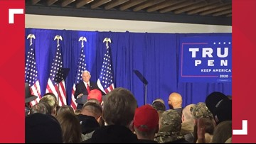 Vice President Mike Pence holds Keep America Great rally in Holland