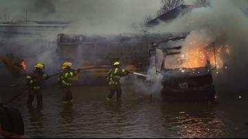 Kalamazoo firefighters put out blaze at local junkyard