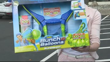 Launching fun with this water balloon launcher!
