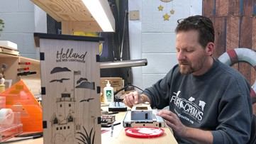 'I feel her here': Lakeshore family starts custom lantern business after mother's unexpected death
