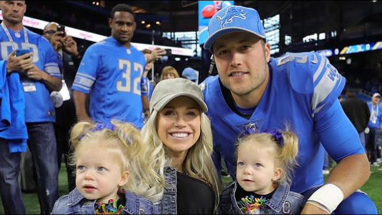 Lions' Matt Stafford's wife back in hospital after brain surgery