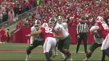 Michigan State tries to get back on track after Wisconsin loss