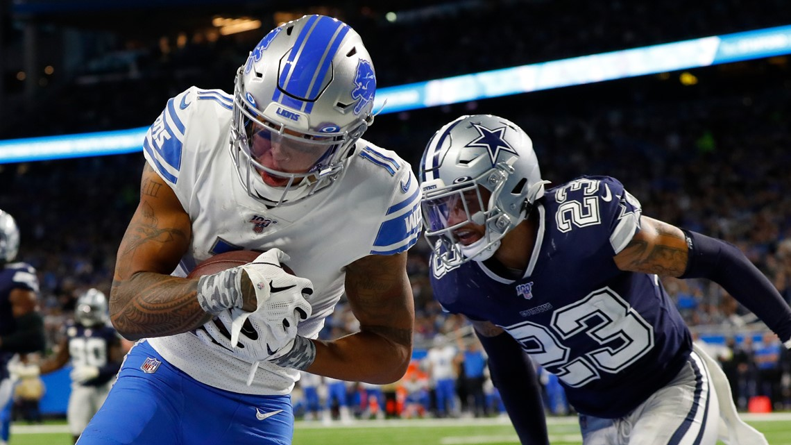 Cowboys get huge day from Prescott, beat Lions 35-27