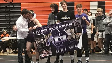 Greenville wrestler celebrates 100 wins. His father did the same thing in 1996.