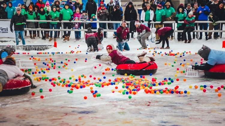 Human Hungry Hungry Hippos Tournament on Ice