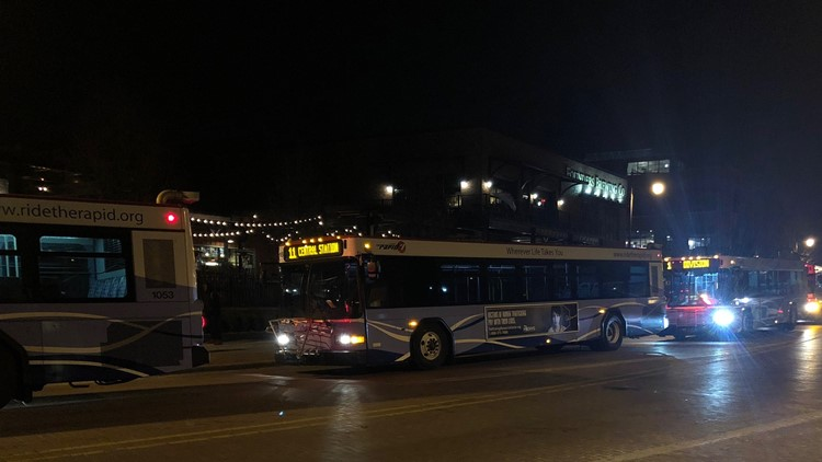 Buses on the streets
