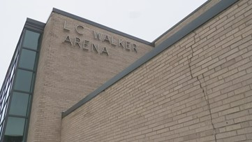 When will the L.C. Walker Arena's name change?
