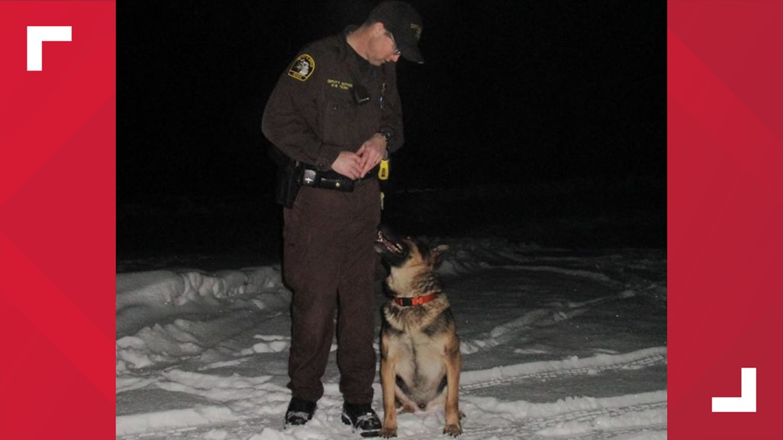 Ionia County Sheriff's Office mourning loss of only K9 officer