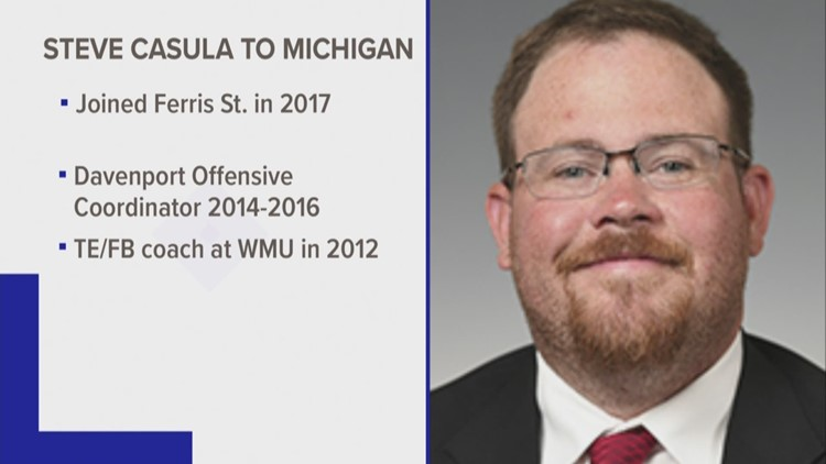 Ferris State's Steve Casula heading to University of Michigan