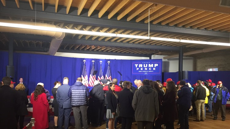 Crowd gathers at Vice President Mike Pence rally in Holland