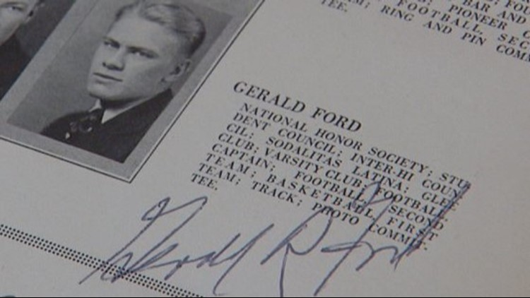 Gerald R. Ford graduated from Grand Rapids South High School in 1931. He served as the 38th President of the United States from August 1974 to January 1977.